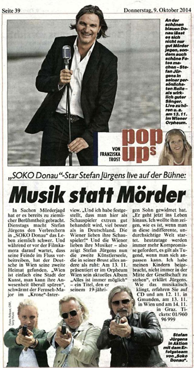 Kronen Zeitung // Musik statt Mörder